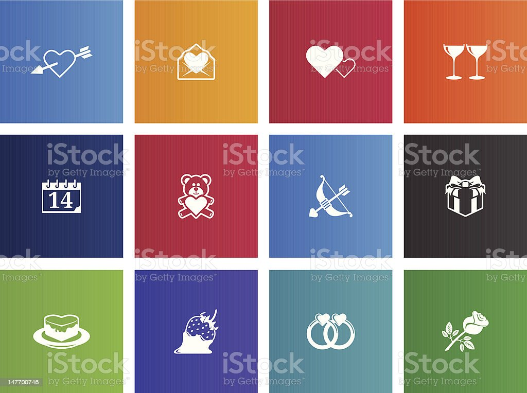 Love Icons royalty-free stock vector art