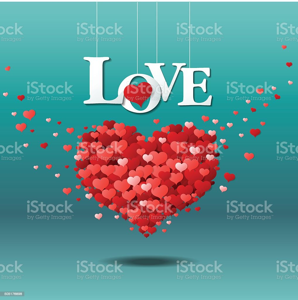 love in the air, valentines day vector art illustration