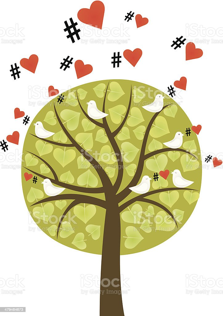 Love in the air royalty-free stock vector art