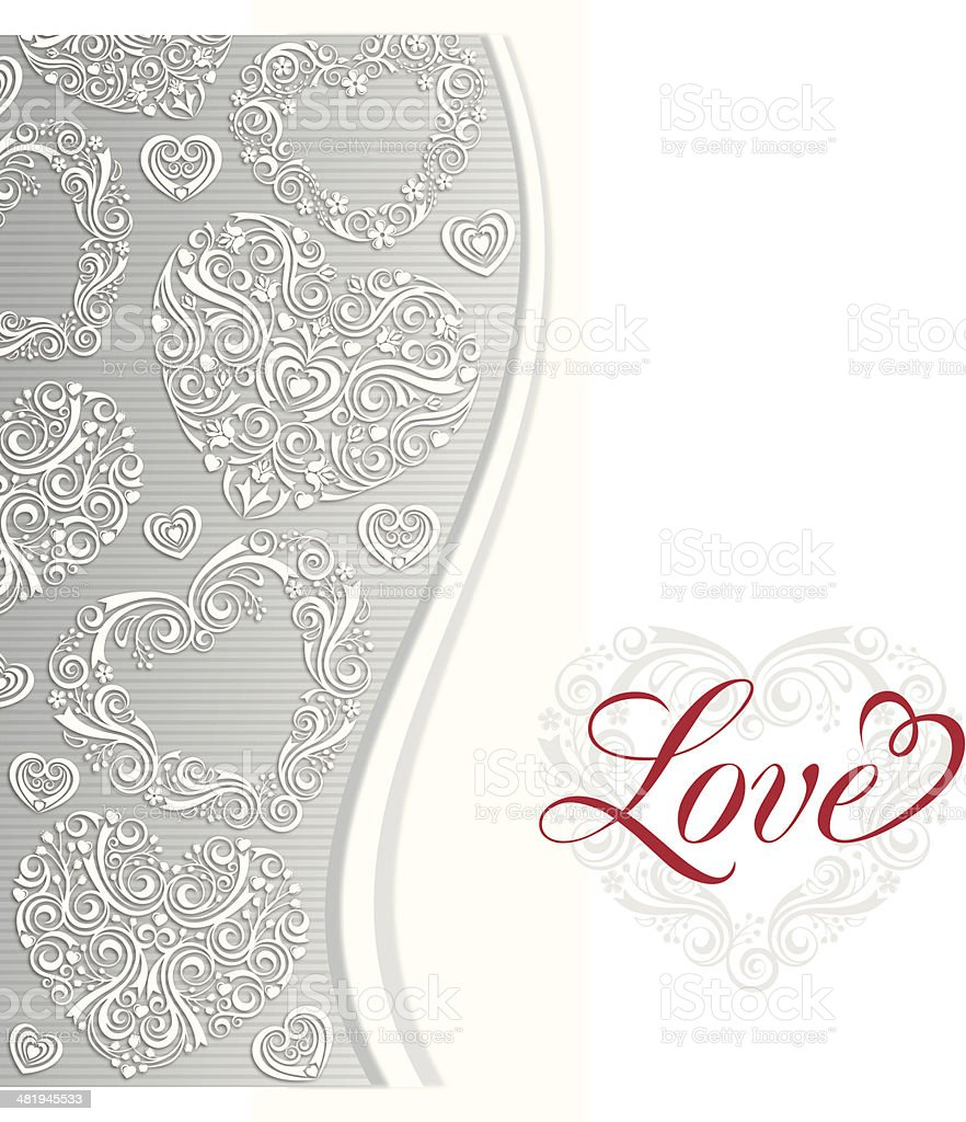 Love Invitation vector art illustration