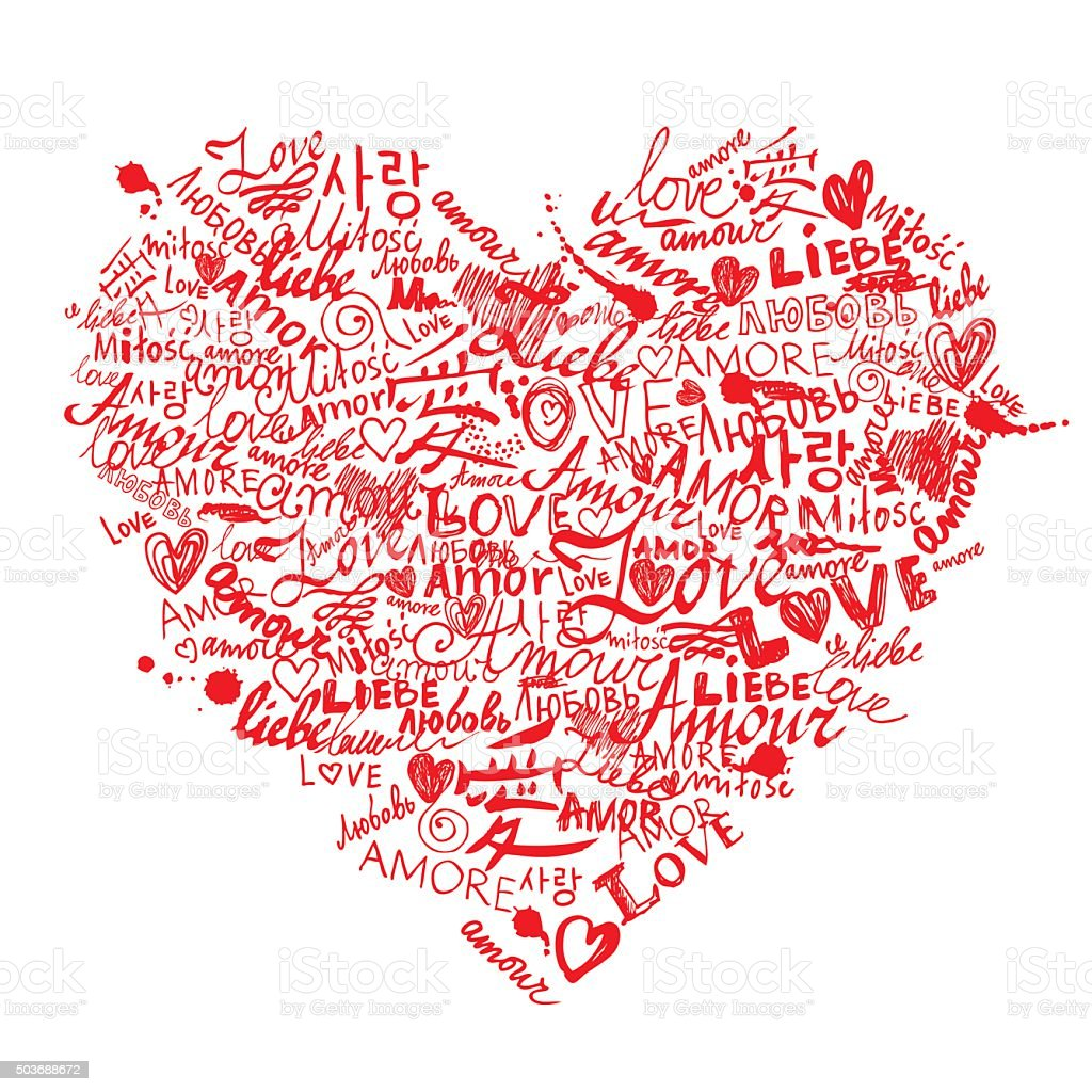 Love Is All Around vector art illustration