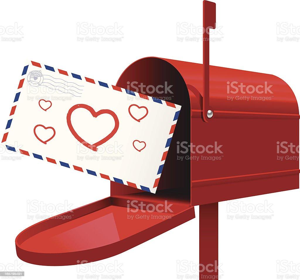 Love is Delivered vector art illustration