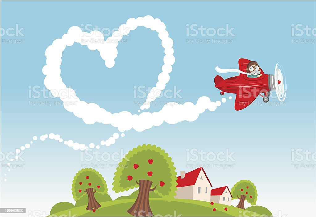 Love is in the air royalty-free stock vector art