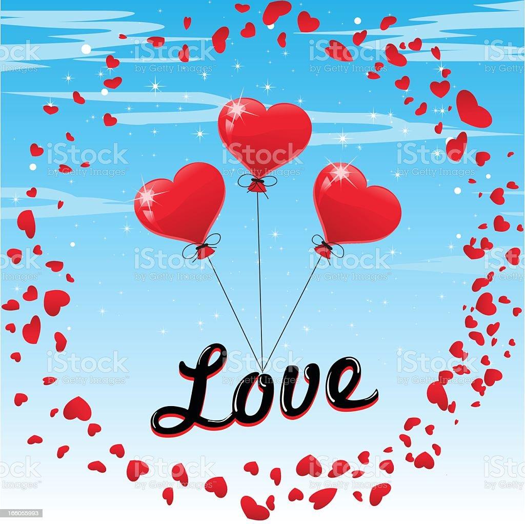 Il y a de l'amour dans l'air stock vecteur libres de droits libre de droits