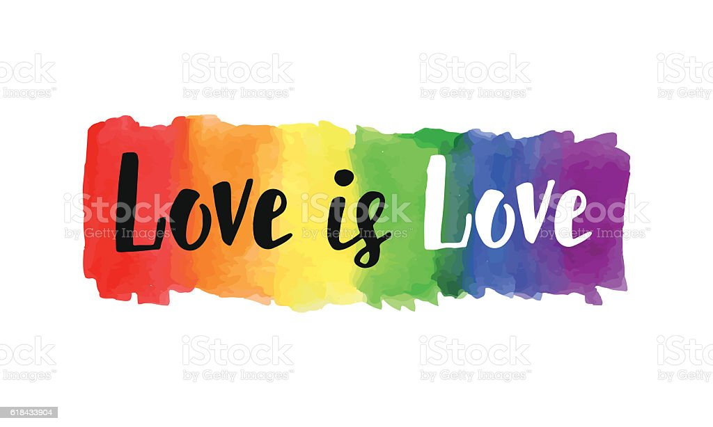 Love is love vector art illustration