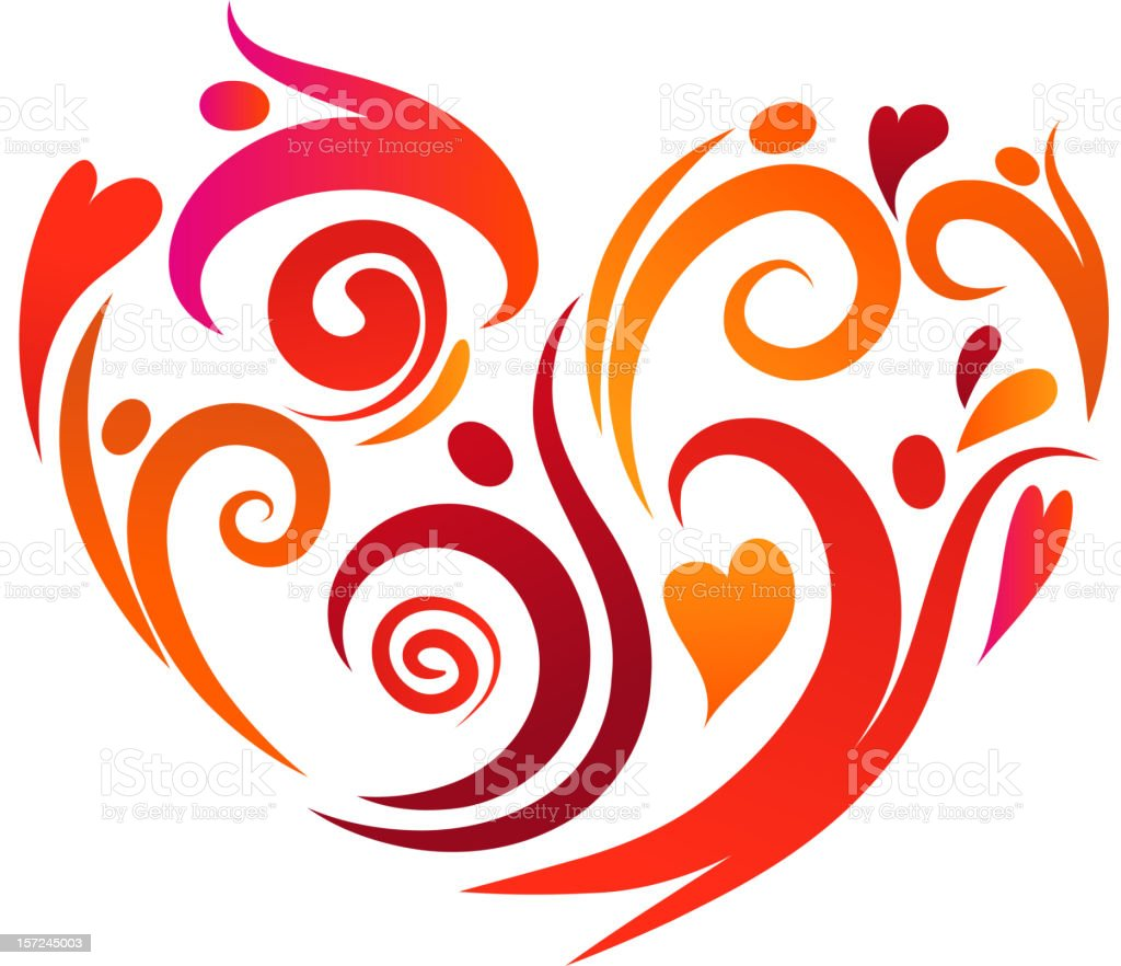Love is on the air royalty-free stock vector art