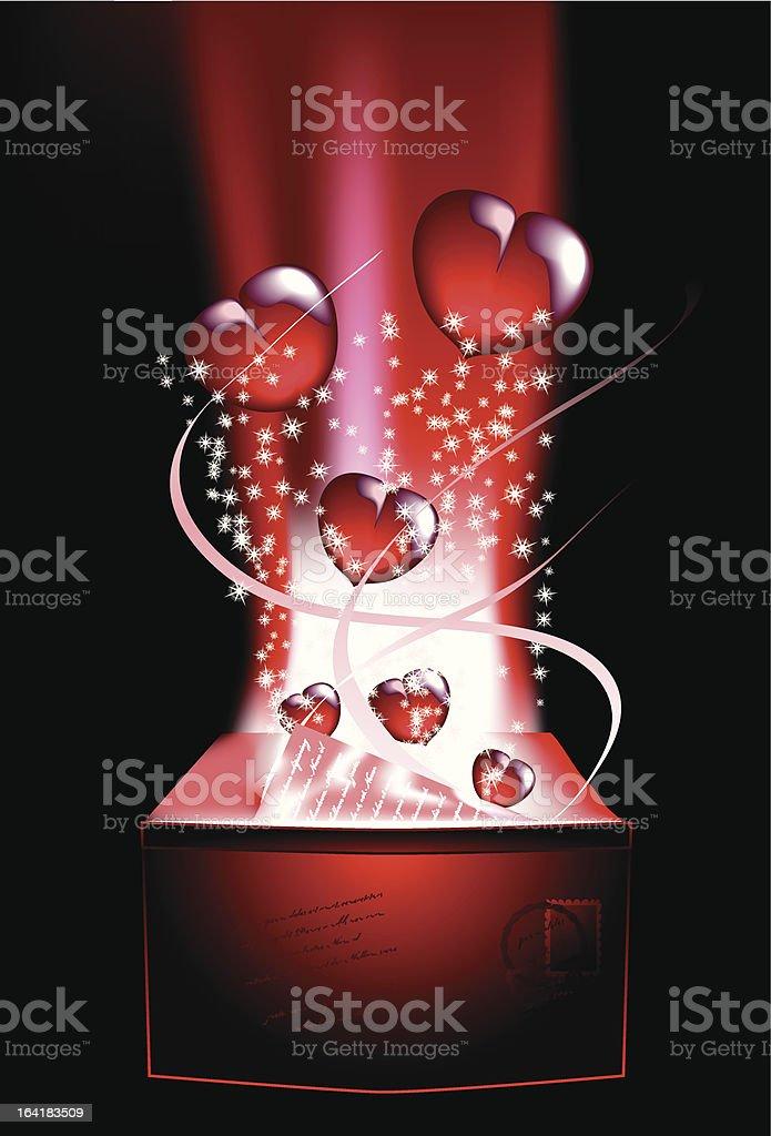 Love letter 2 royalty-free stock vector art
