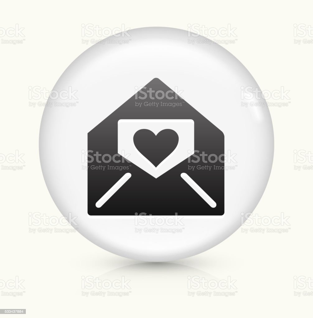 Love Letter icon on white round vector button vector art illustration
