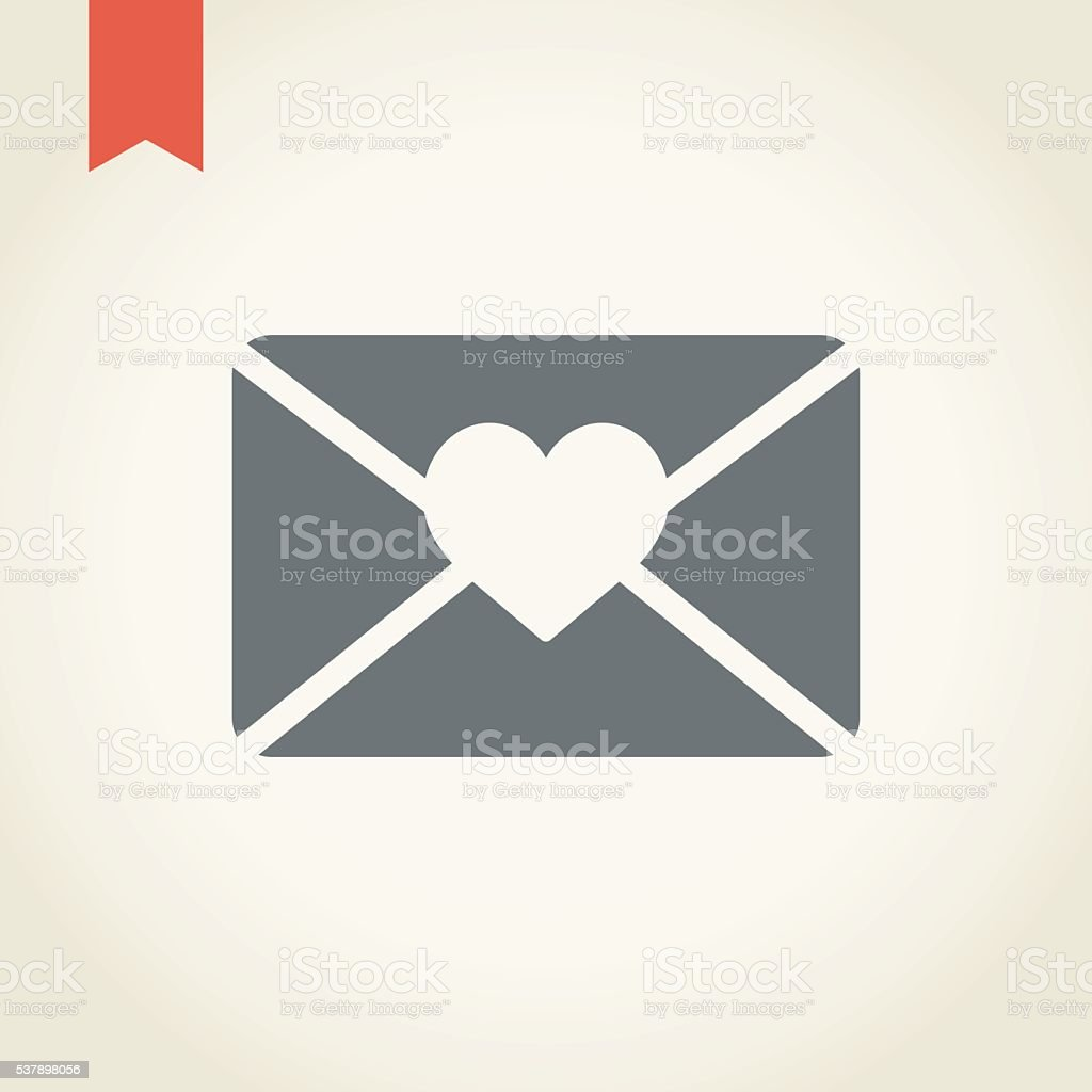 Love letter icon vector art illustration
