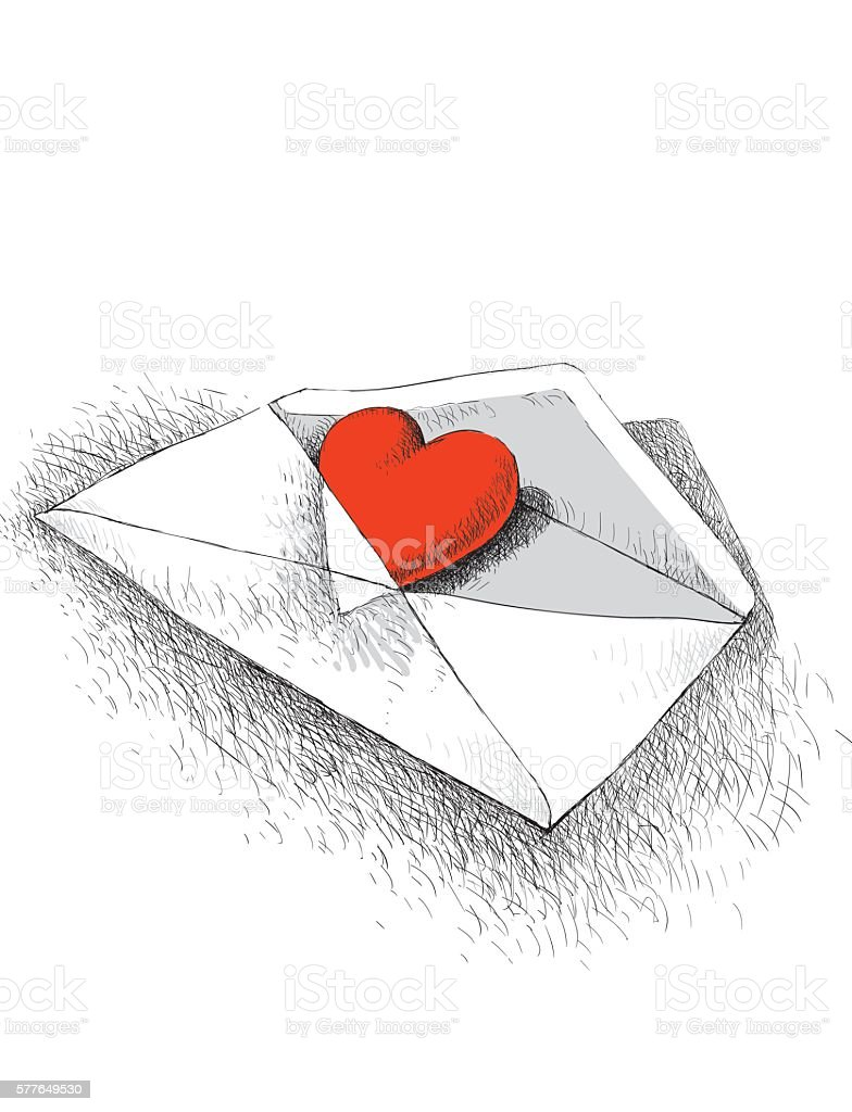 Love letter vector art illustration