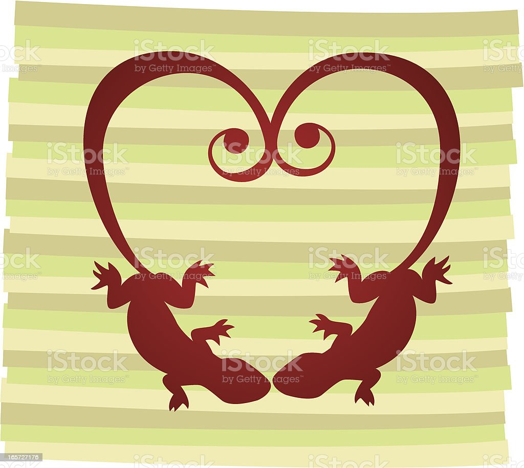 Love Lizards royalty-free stock vector art