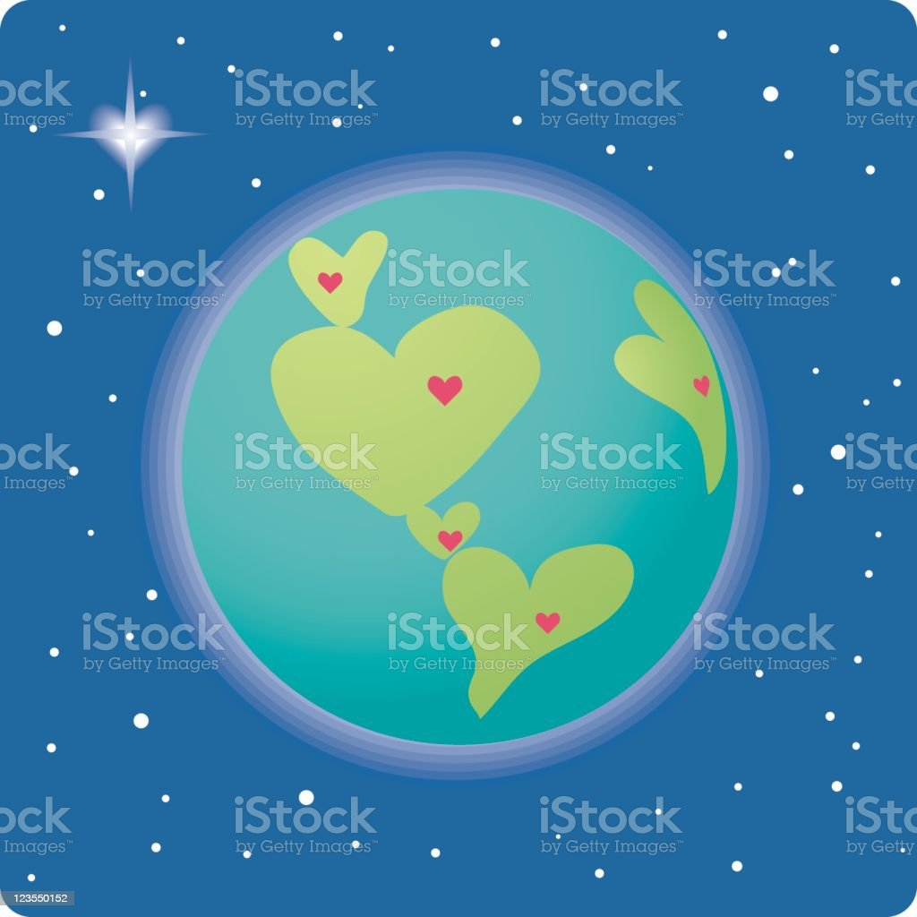 Love makes the world go round royalty-free stock vector art