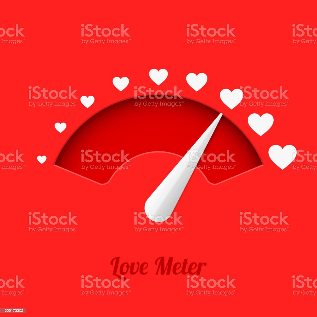 Love meter vector art illustration