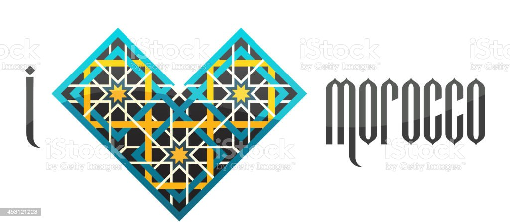 I love Morocco. Vector iluustration. royalty-free stock vector art