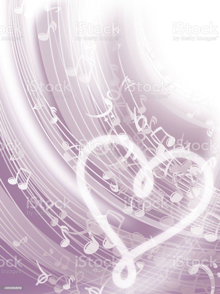 Love Music Background vector art illustration