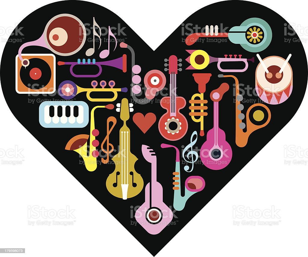 Love Music royalty-free stock vector art