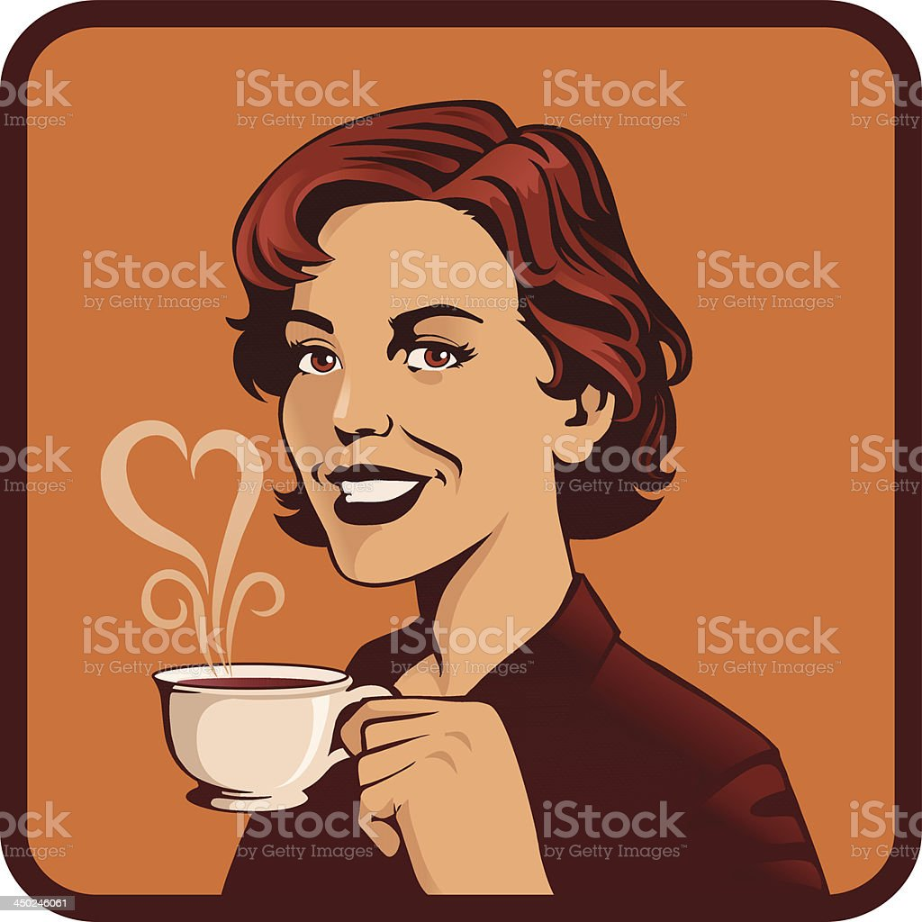 I Love My Coffee in the Morning royalty-free stock vector art