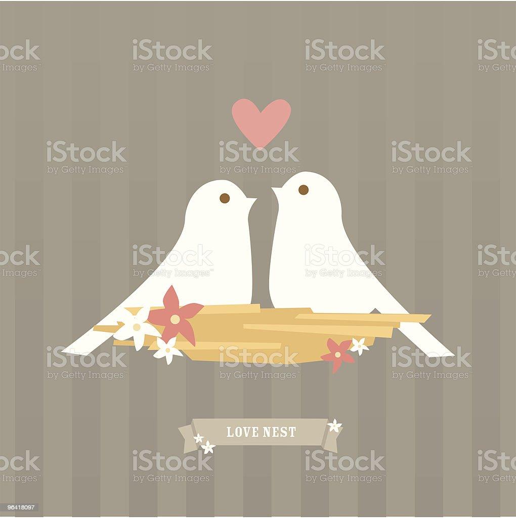 Love nest vector art illustration