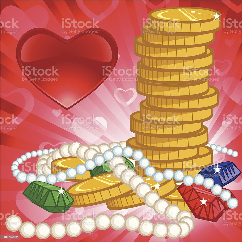 Love of Money vector art illustration