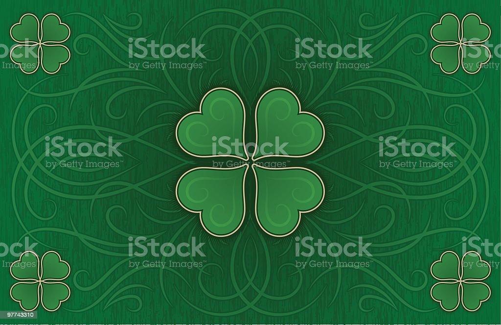 Love of the Irish - Tabloid Background royalty-free stock vector art