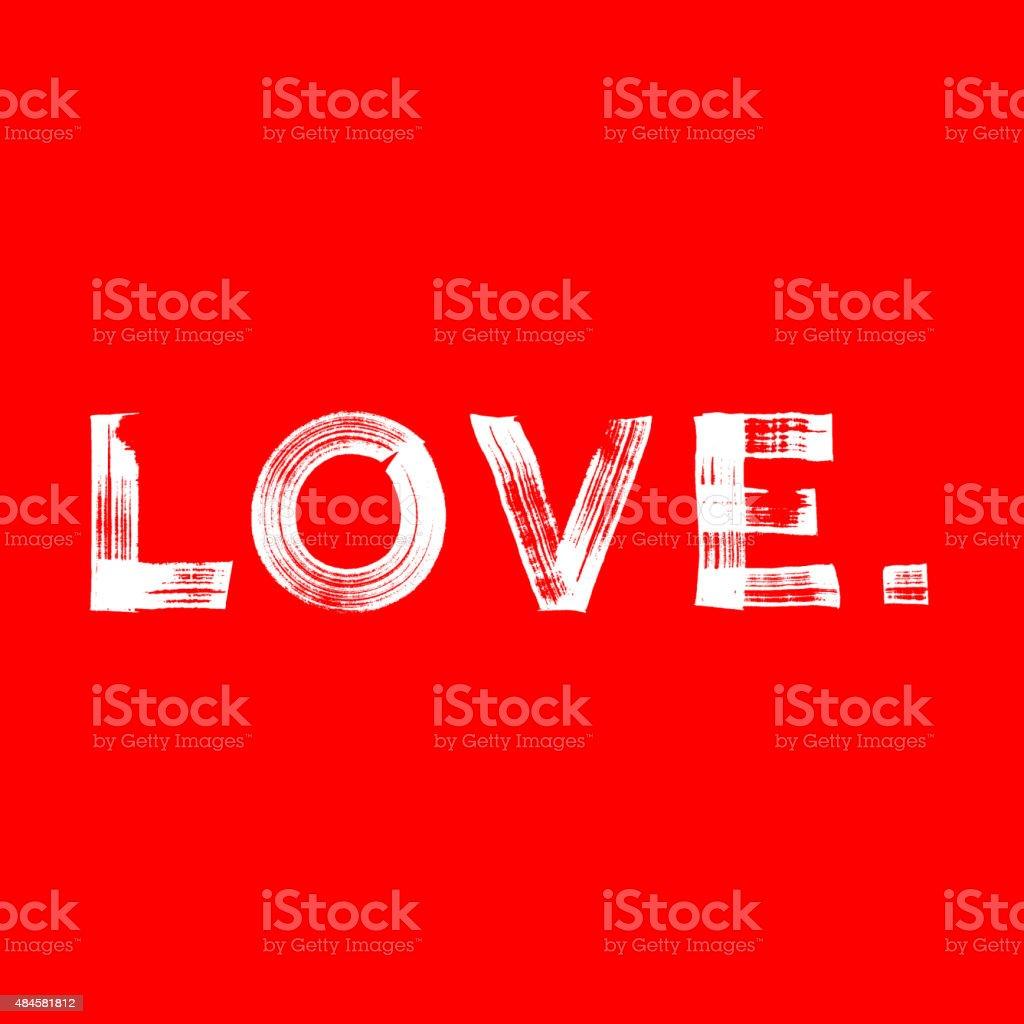Love paint brushed vector poster vector art illustration