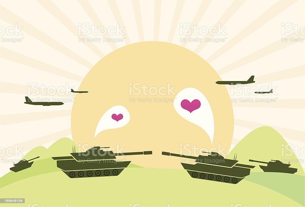 Love Peace vector art illustration