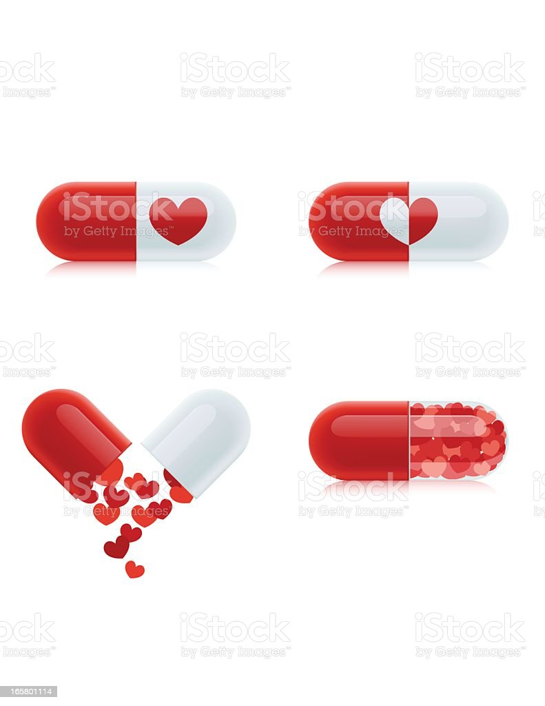 Love Pills royalty-free stock vector art
