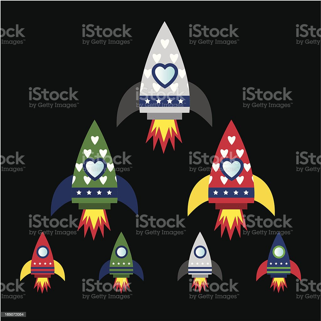 Love rocket royalty-free stock vector art