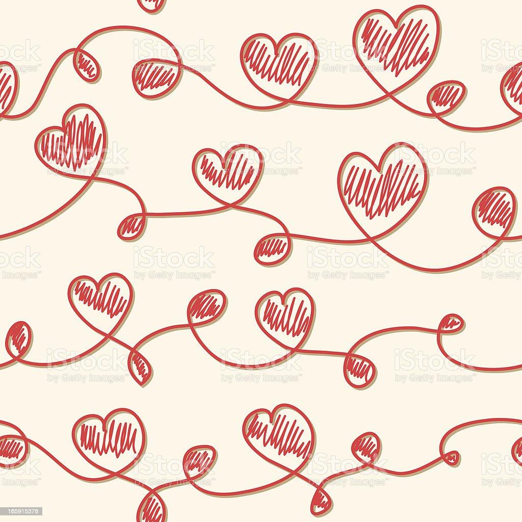 Love seamless background vector art illustration