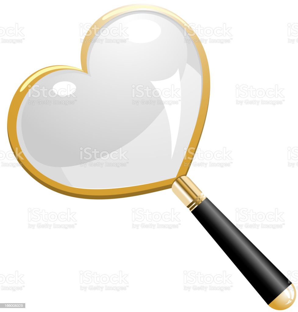Love Search Magnifying Glass royalty-free stock vector art