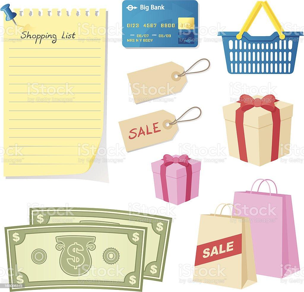 Love Shopping - incl. jpeg royalty-free stock vector art