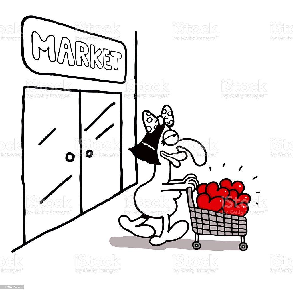 Love Shopping royalty-free stock vector art