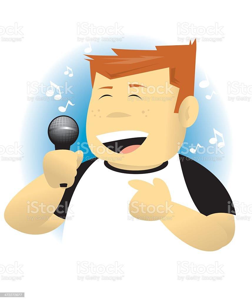 I love Singing vector art illustration