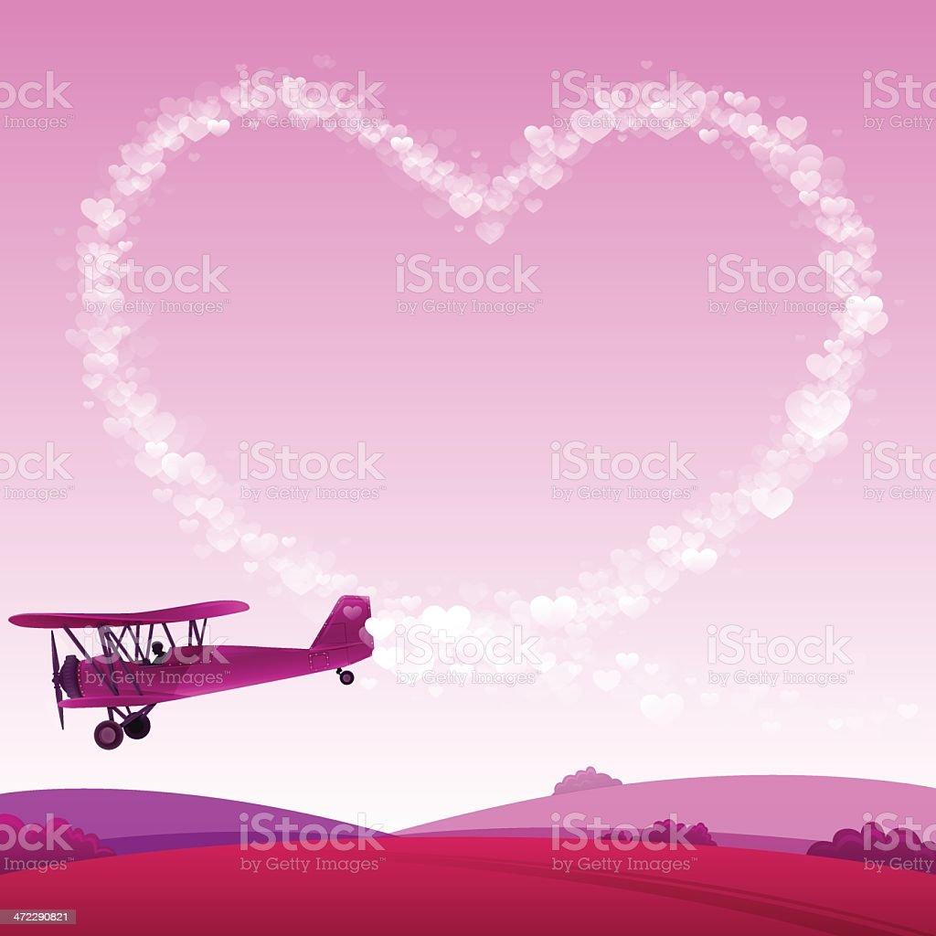 Love Skywriting royalty-free stock vector art