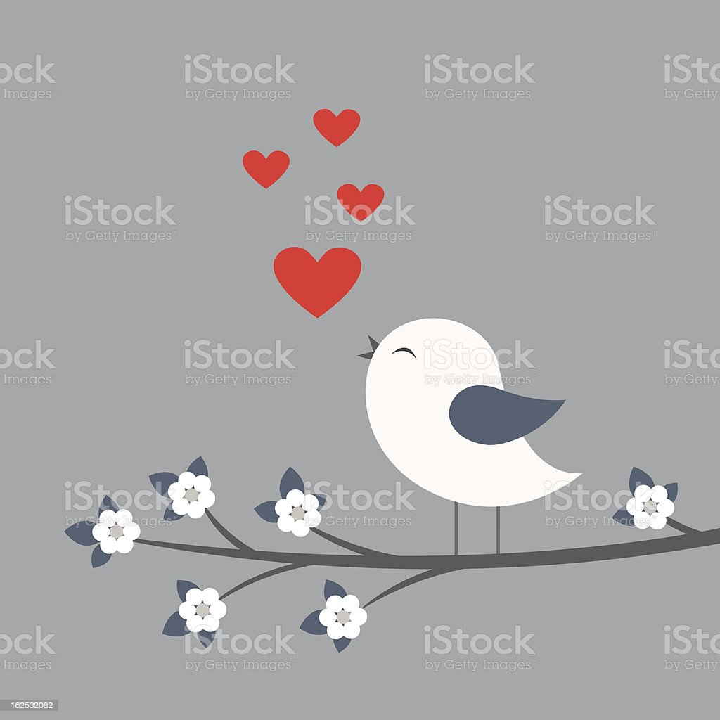 Love song vector art illustration