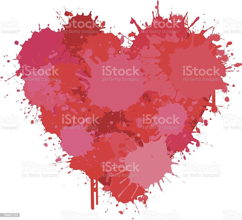 Love Splatter vector art illustration