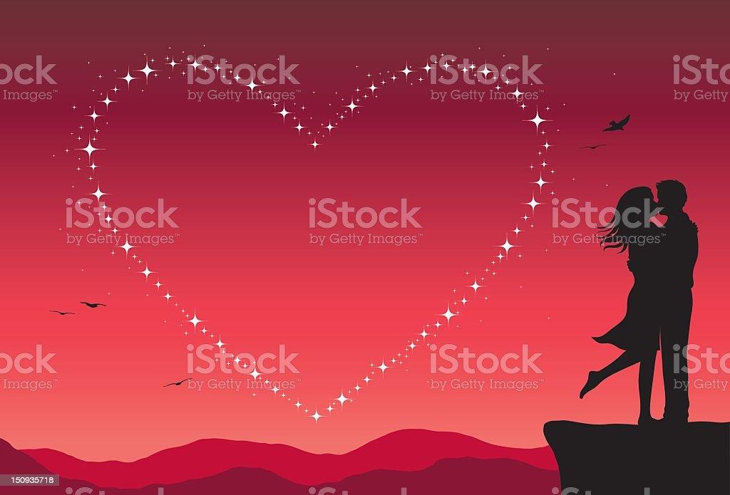 Love Stars royalty-free stock vector art