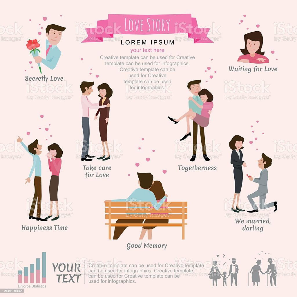 Love story concept. vector art illustration