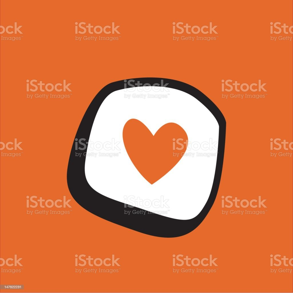 Love Sushi royalty-free stock vector art