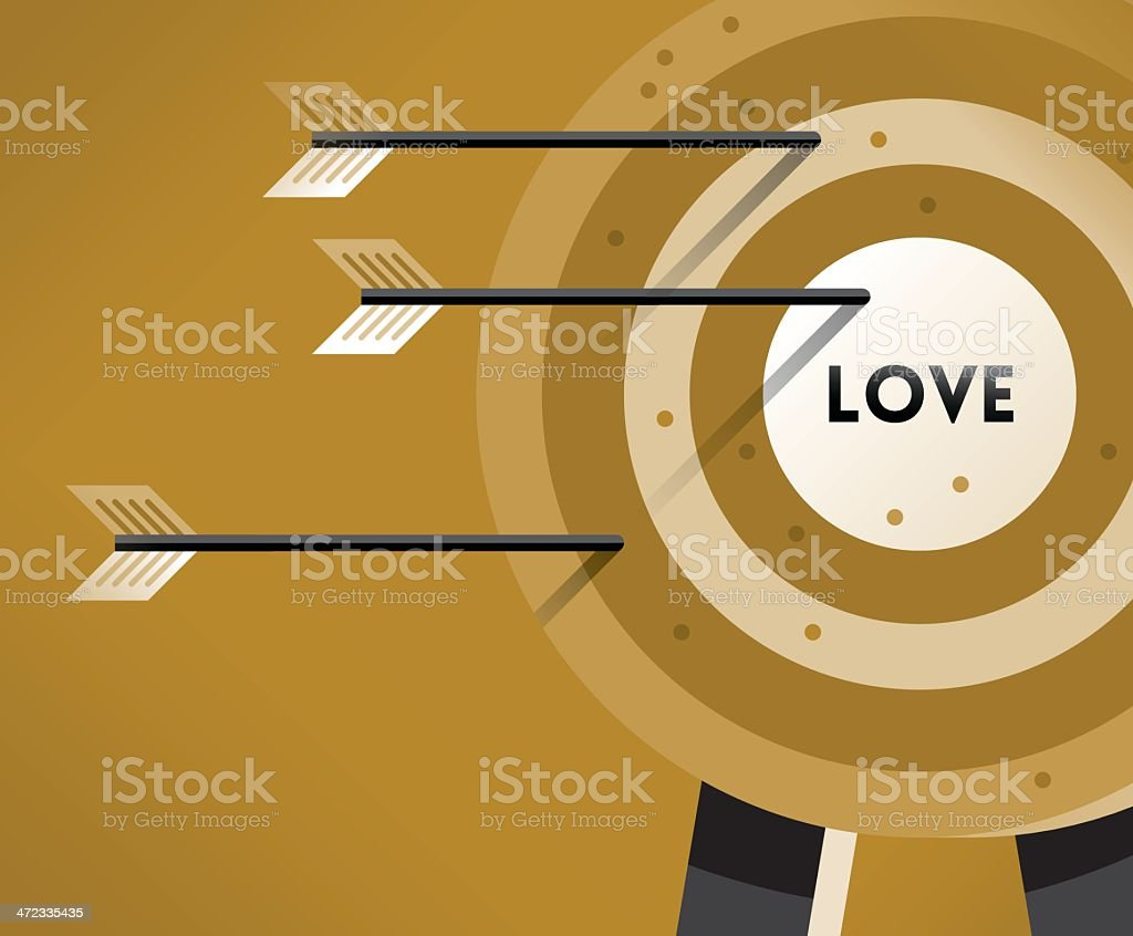 Love Target royalty-free stock vector art