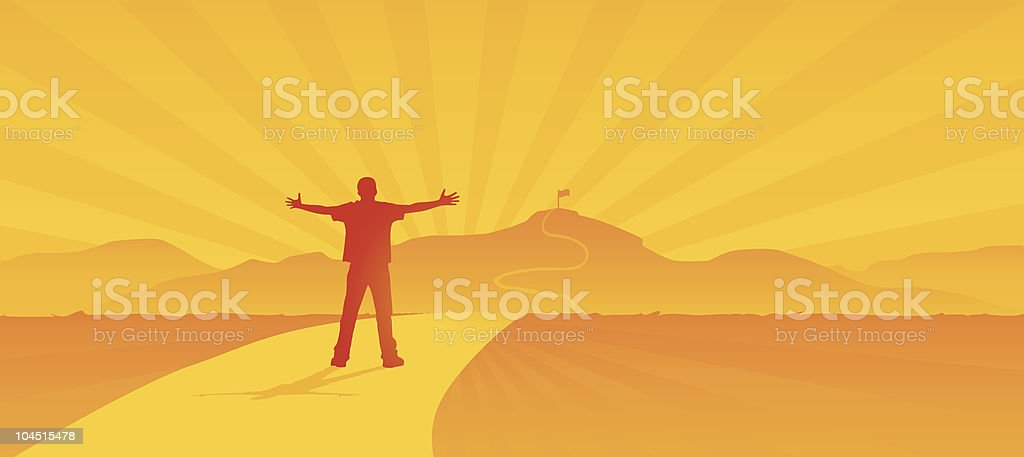 Love The Challenge royalty-free stock vector art