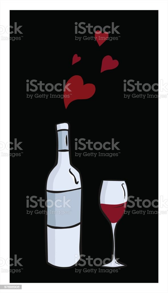Love the Vine royalty-free stock vector art