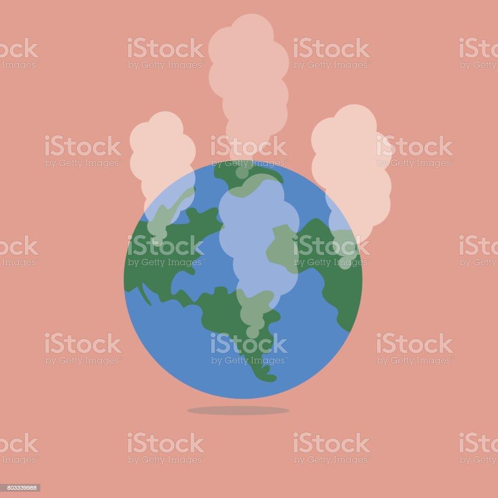 Love the world, Global warming concept vector art illustration