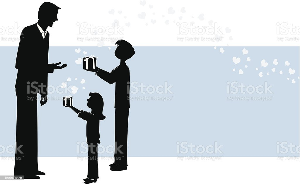 Love to Dad vector art illustration