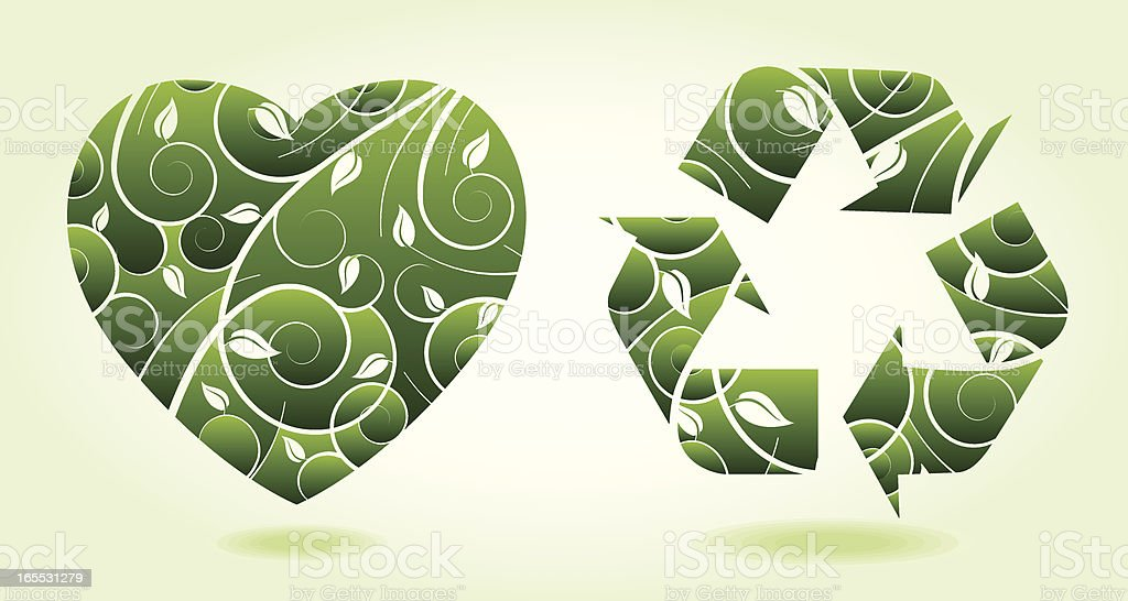 Love to Recycle royalty-free stock vector art