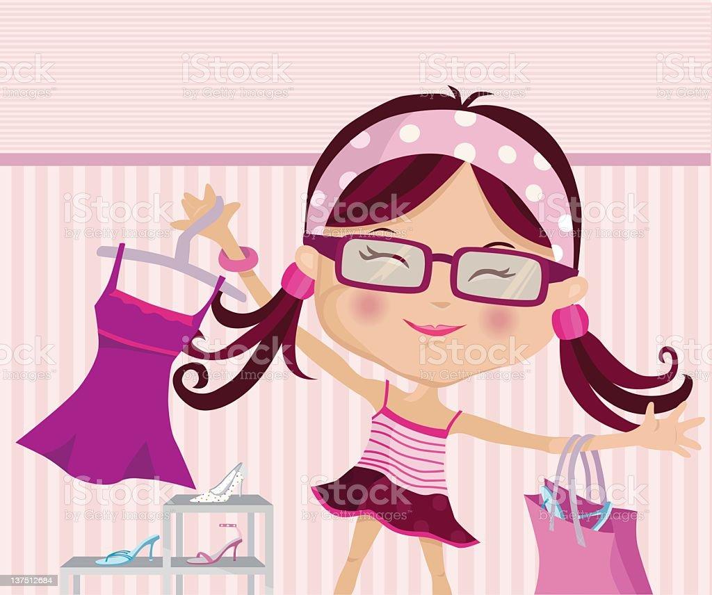 I Love to Shop vector art illustration