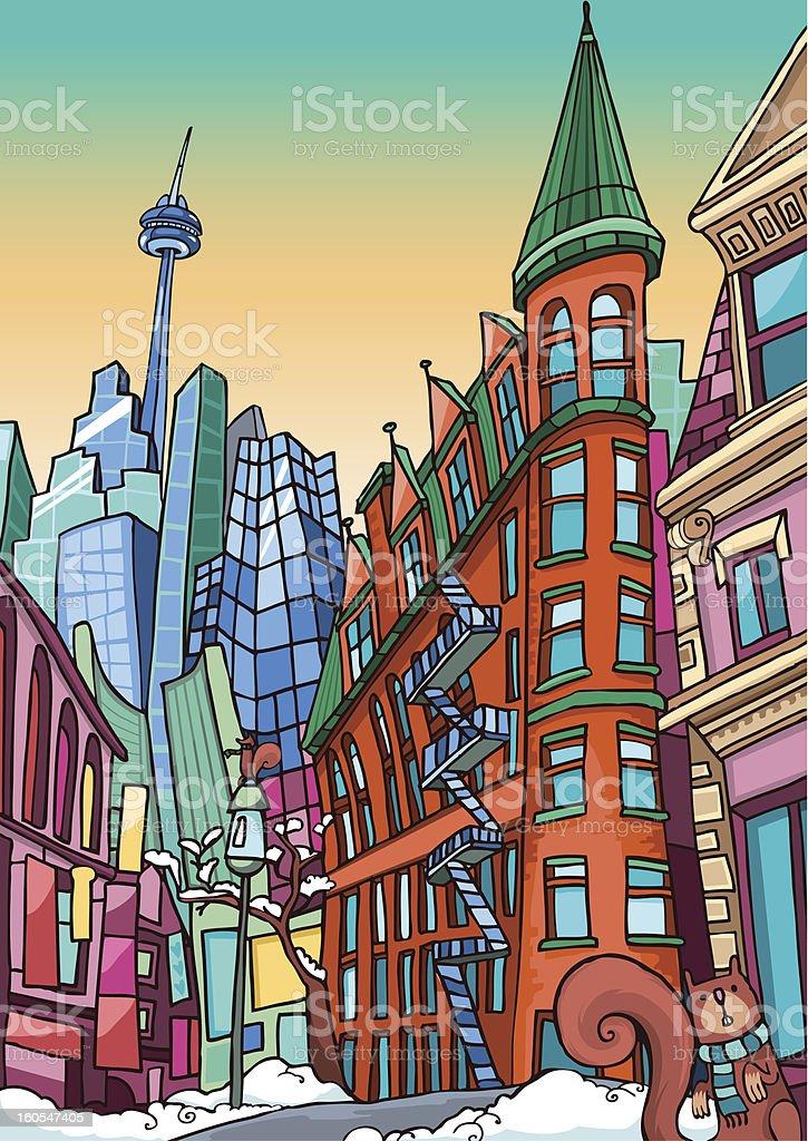 Love Toronto vector art illustration
