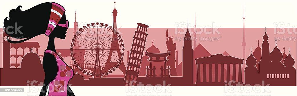 Love Travel vector art illustration