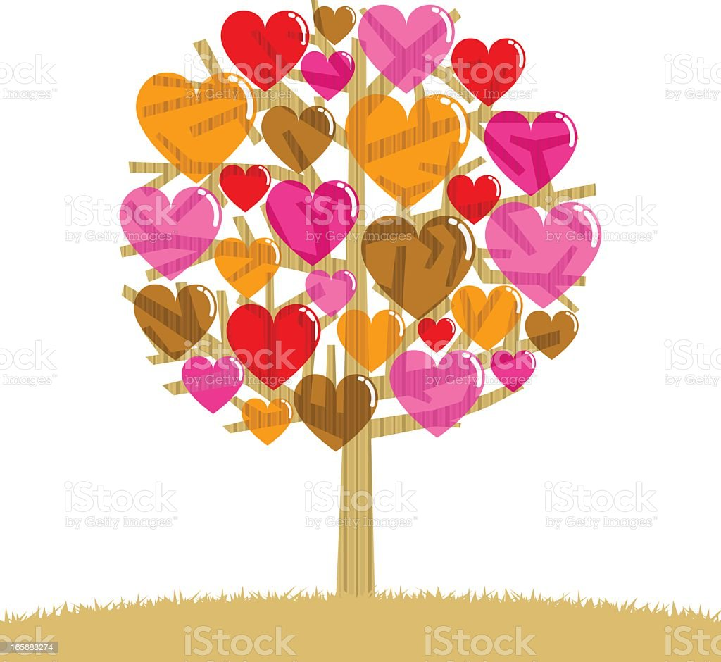 Love tree royalty-free stock vector art