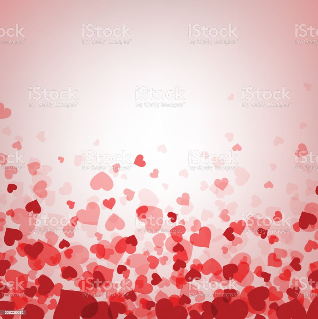 Love valentine's background with hearts. vector art illustration